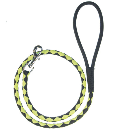 DOGLine Round Braided Leather Leash - SitStay - 4