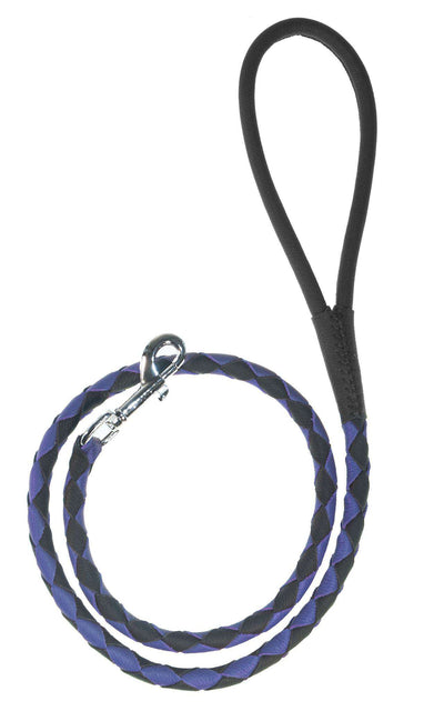 DOGLine Round Braided Leather Leash - SitStay - 6