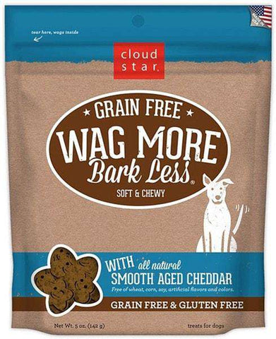 Cloud Star - Wag More Bark Less Soft & Chewy Grain Free - Smooth Aged Cheddar - SitStay
