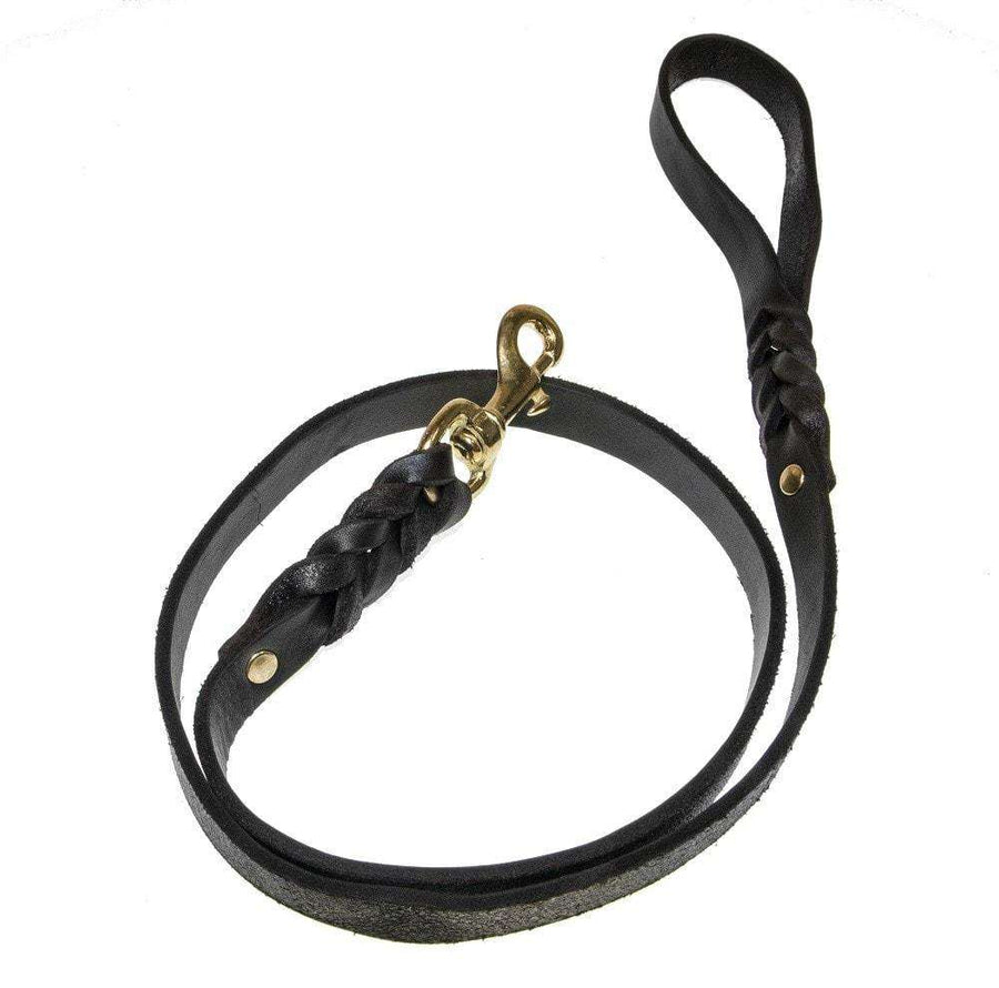 DOGLine Viper Working Leather Leash - SitStay - 1