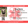 ID Card - Service Dog Medical Alert