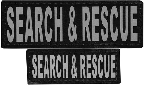 "DOGLine Velcro Patches ""Search and Rescue"" 2 Pack - SitStay - 1"