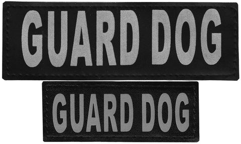 "DOGLine Velcro Patches ""Guard Dog"" 2 Pack - SitStay - 1"