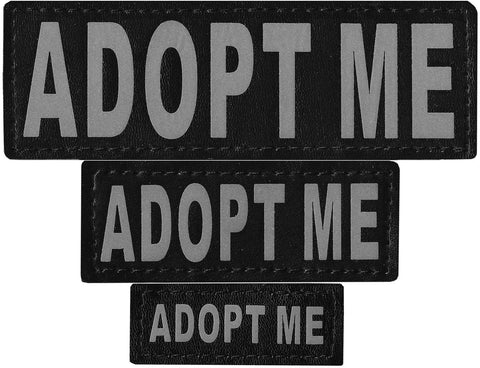 "DOGLine Velcro Patches ""Adopt Me"" 2 Pack - SitStay - 1"