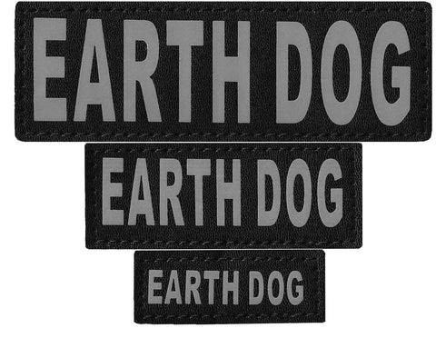 "DOGLine Velcro Patches ""Earth Dog"" 2 Pack - SitStay - 1"