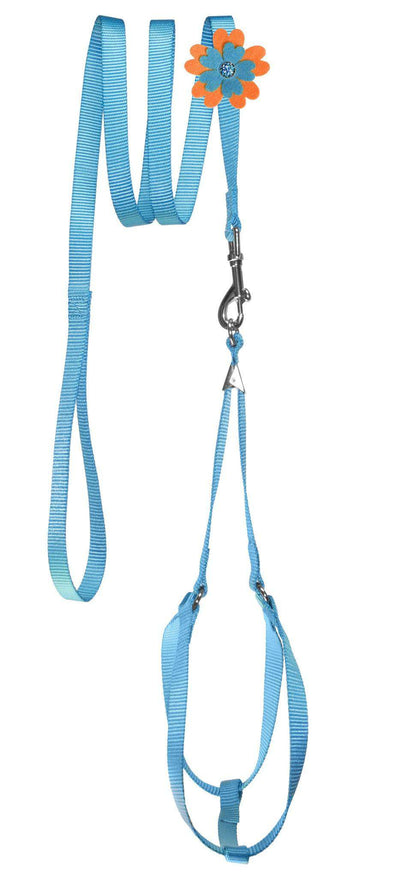 DOGLine Nylon Step-In Harness Flower and Leash Combo - SitStay - 3