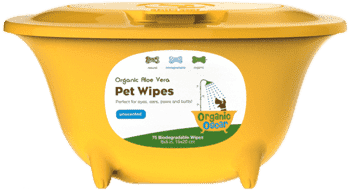 Organic Oscar Aloe Vera Pet Wipes - SitStay
