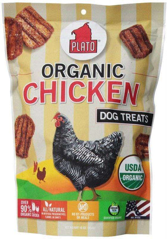 Plato Organic Real Strips Treats, Salmon, Duck and Chicken - SitStay - 2
