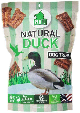 Plato Organic Real Strips Treats, Salmon, Duck and Chicken - SitStay - 3