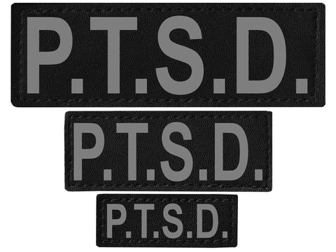 "DOGLine Velcro Patches ""PTSD"" 2 Pack - SitStay - 1"