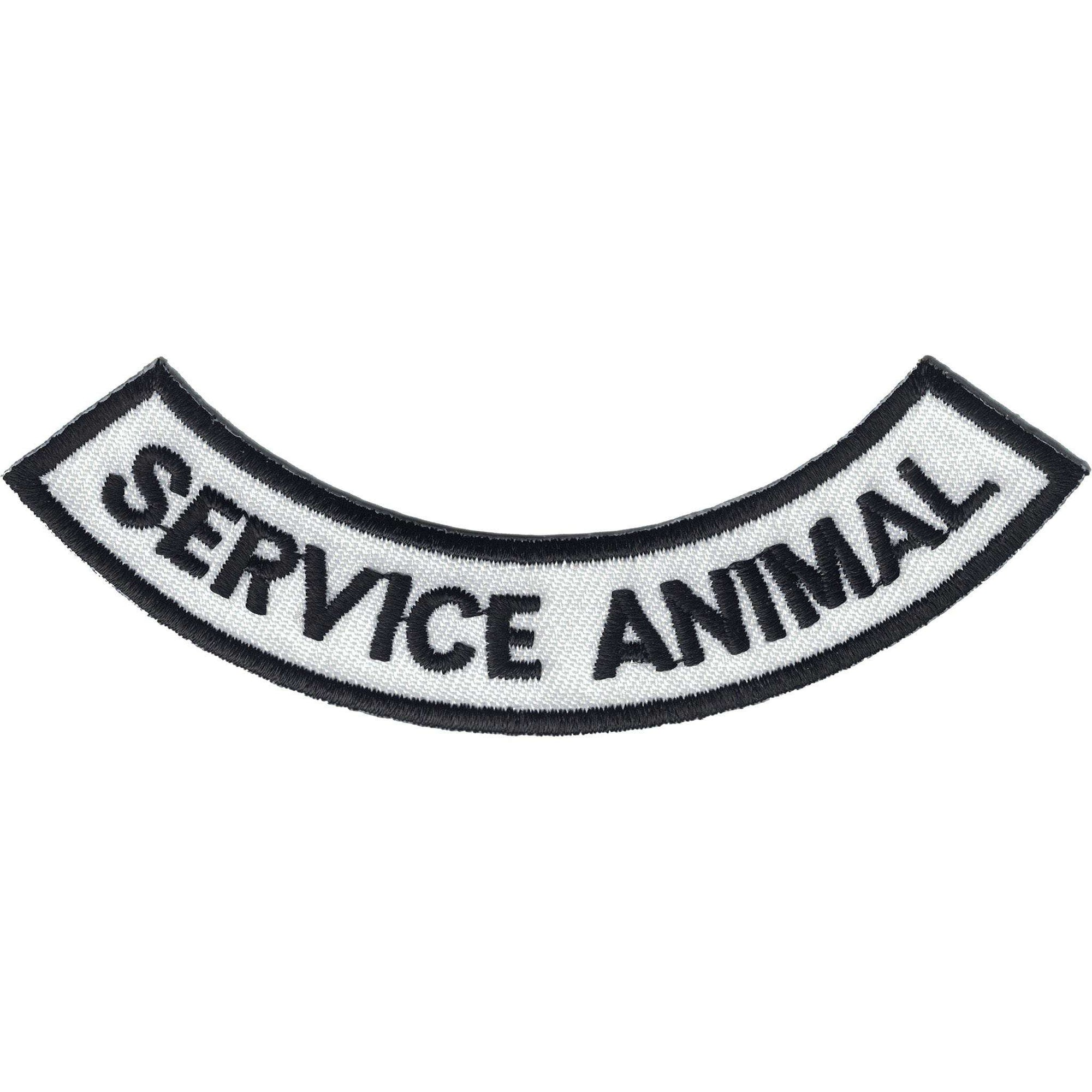 Non-species specific service animal patches.
