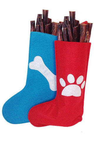 "Bully Stick Stuffed Stocking (Eight  5-6"" Sticks) - SitStay"