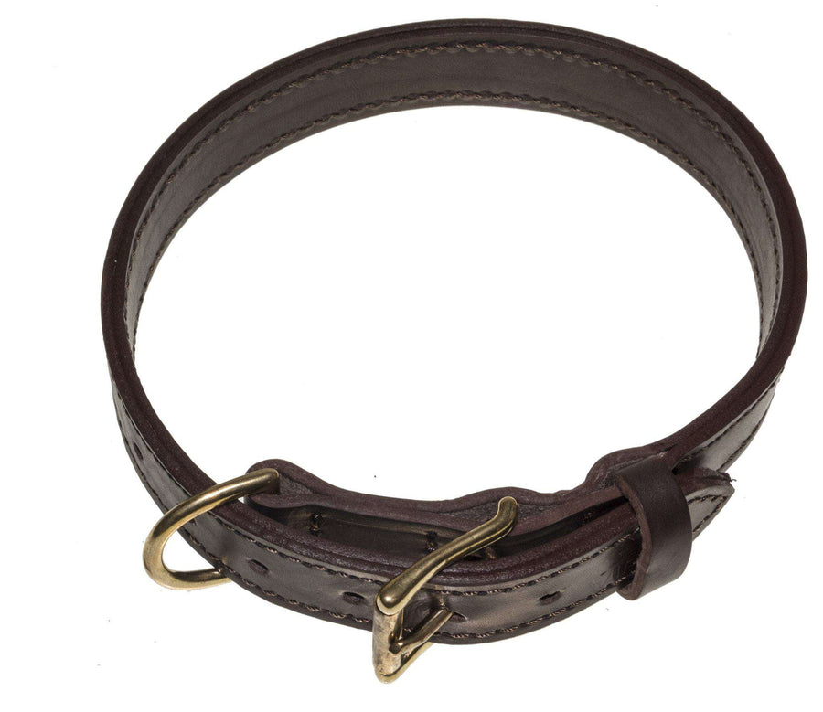 DOGLine Viper Two-Ply Leather Collar - SitStay - 1
