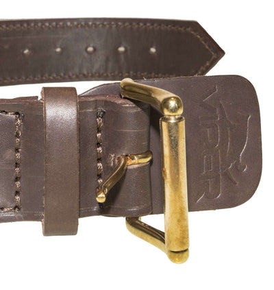 DOGLine Two-Ply Leather Collar with Handle - SitStay