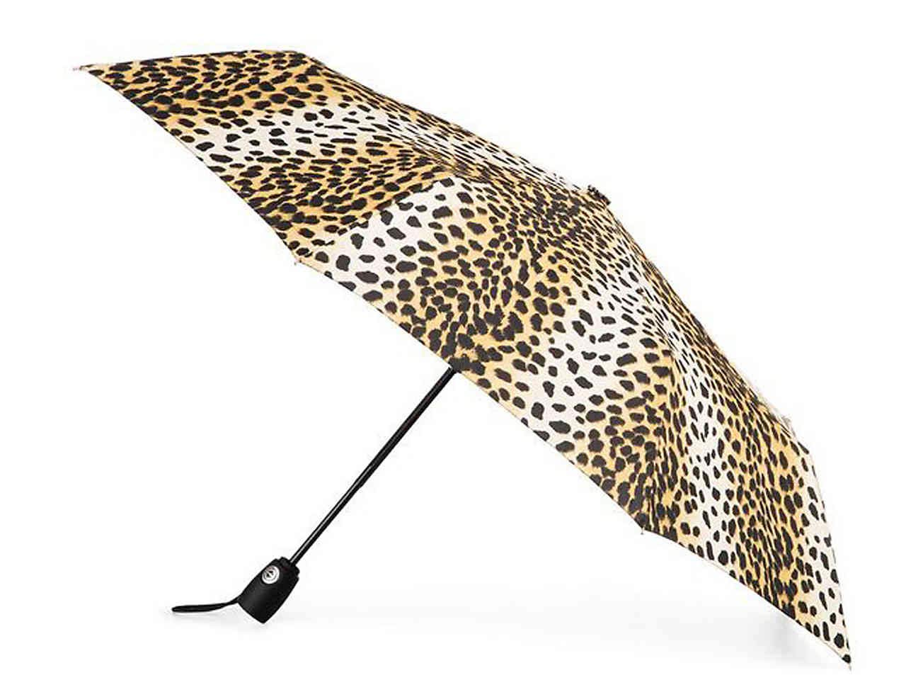 "Totes Auto Open and Auto Close Compact Umbrella With NeverWet Technology, 43"" Coverage"