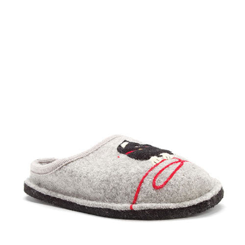 Haflinger Kitty Slippers Grey