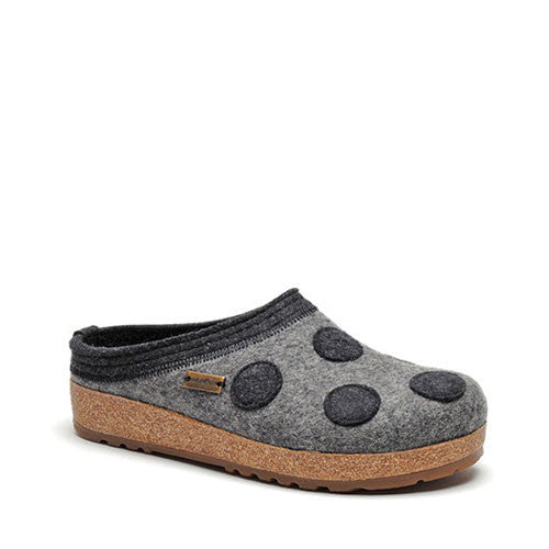 Haflinger Dotty Slippers Grey