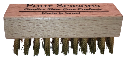 Four Seasons Brass Suede Brush