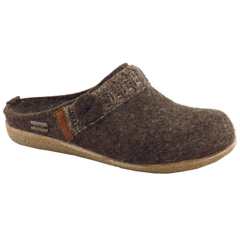 Haflinger Women's Leslie Crepe Slipper Chocolate