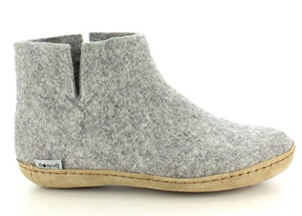 Glerups Unisex Model G Natural Wool Boot Slipper