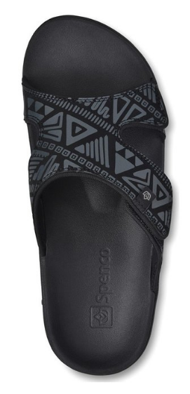 Spenco Men's Kholo Tribal Slide Sandals
