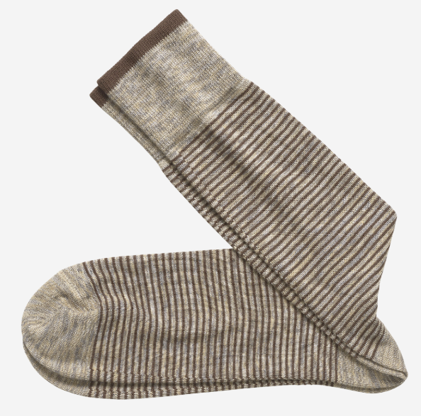 Johnston & Murphy Space-Dyed Mini Stripe Men's Socks