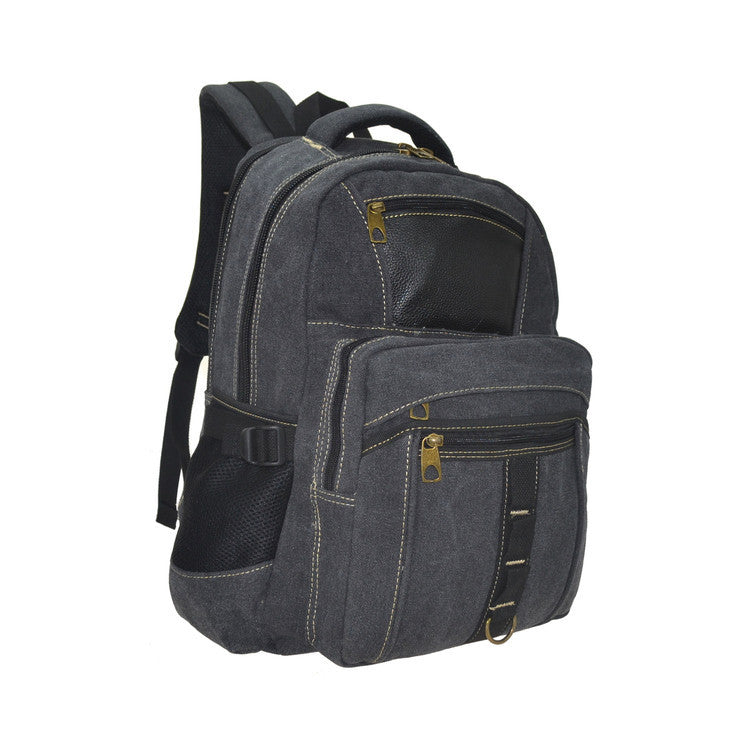 R&R Collections Backpack With Tablet Sleeve and Leather Patch