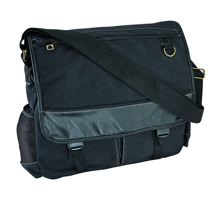R&R Collections Washed Canvas Messenger Bag