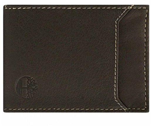 Timberland Men's Flip Clip Money Clip Leather Wallet