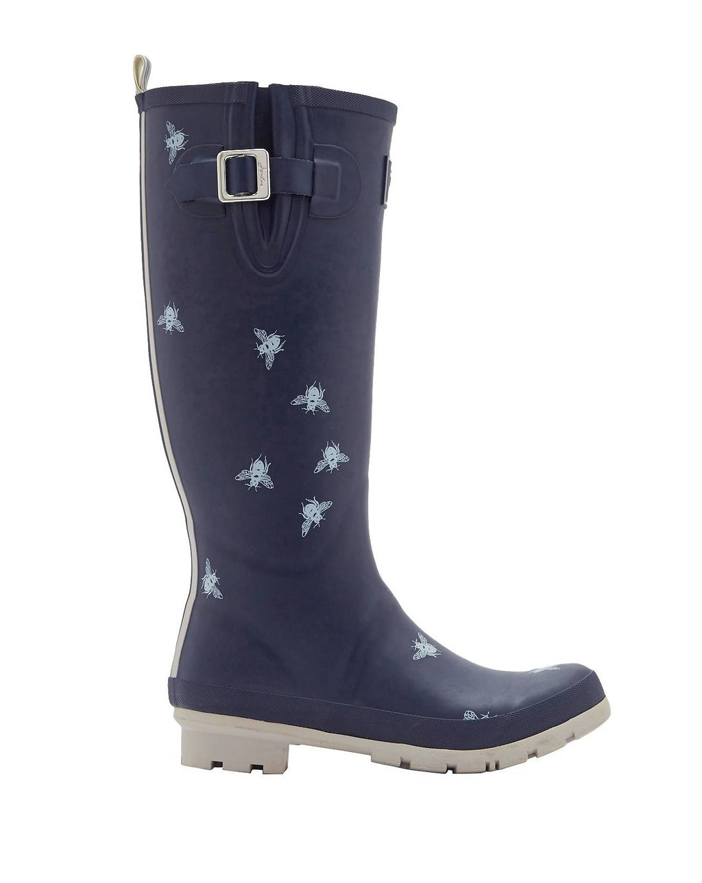 Joules U_Welly Print Navy Bee Rainboot