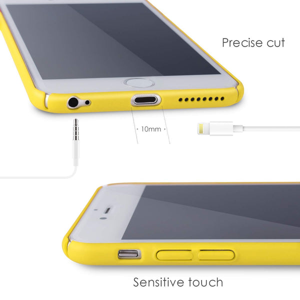 for iPhone 6P/6s Plus Case Roopose Anti-Scratch Shockproof Slim Fit Shell Matte Hard PC Plastic Full Protective Back Case Cover for iPhone 6/6s Plus