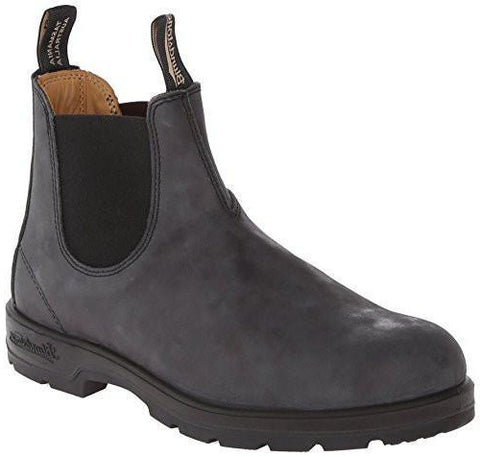 Blundstone Unisex 1442 Burgundy Rub with Tartan Elastic Boot