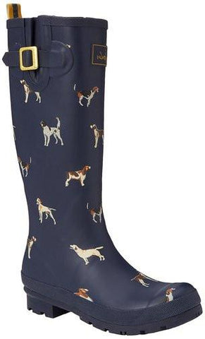 Joules Welly Print Women's Rubber Rain Boots Waterproof