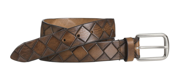 JOHNSTON & MURPHY BASKETWEAVE BELT