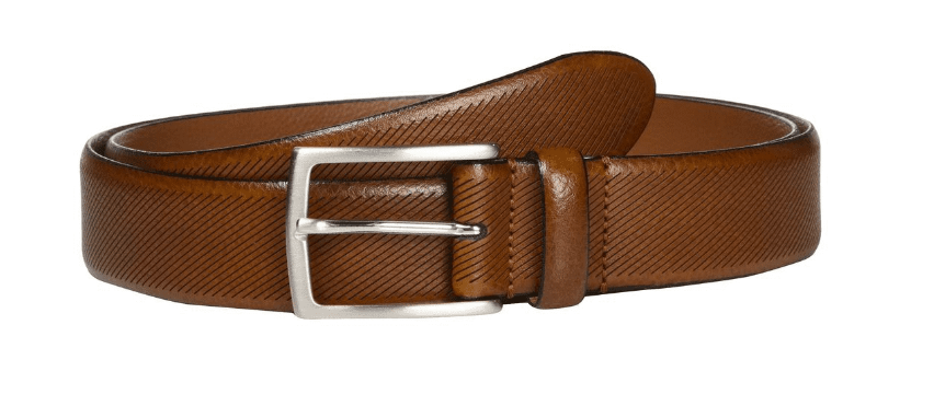 Johnston Murphy Men's Diagonal Embossed Belt