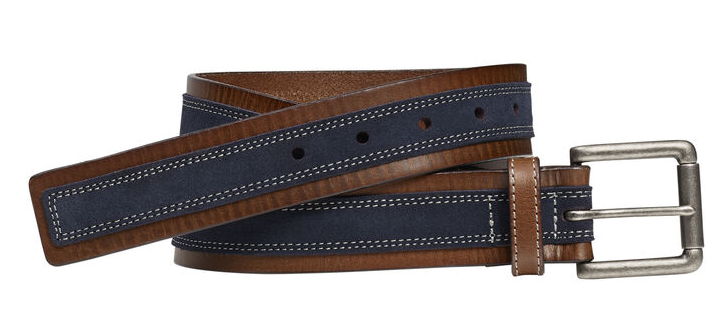 JOHNSTON & MURPHY SUEDE OVERLAY BELT