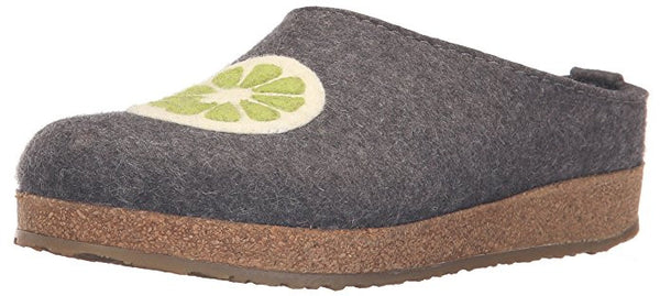 Haflinger Womwn's Grizzly Lemon Boiled Wool Clog
