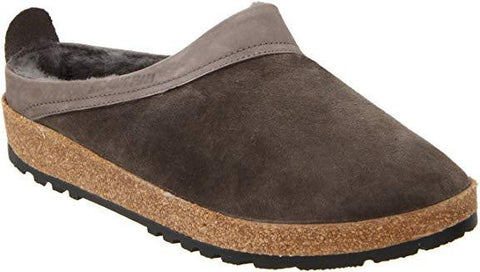 Haflinger GZ Clog,Grey,43 EU/Women's 12 M US/Men's 10 M US