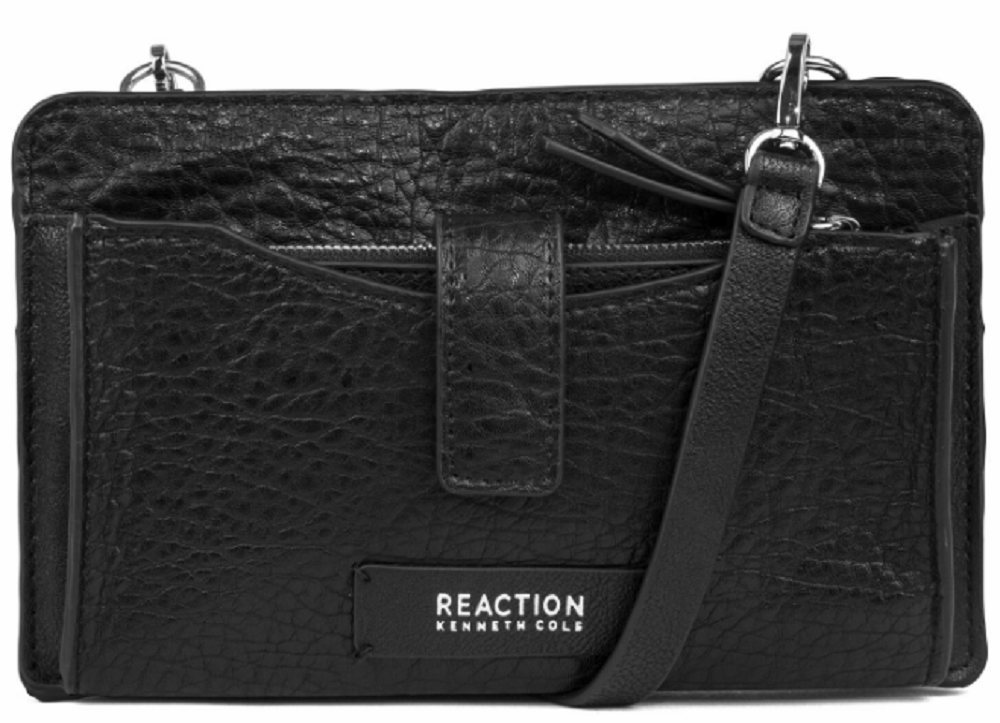 Kenneth Cole Reaction Squared Off Mini Crossbody W/ Rfid and Phone Battery