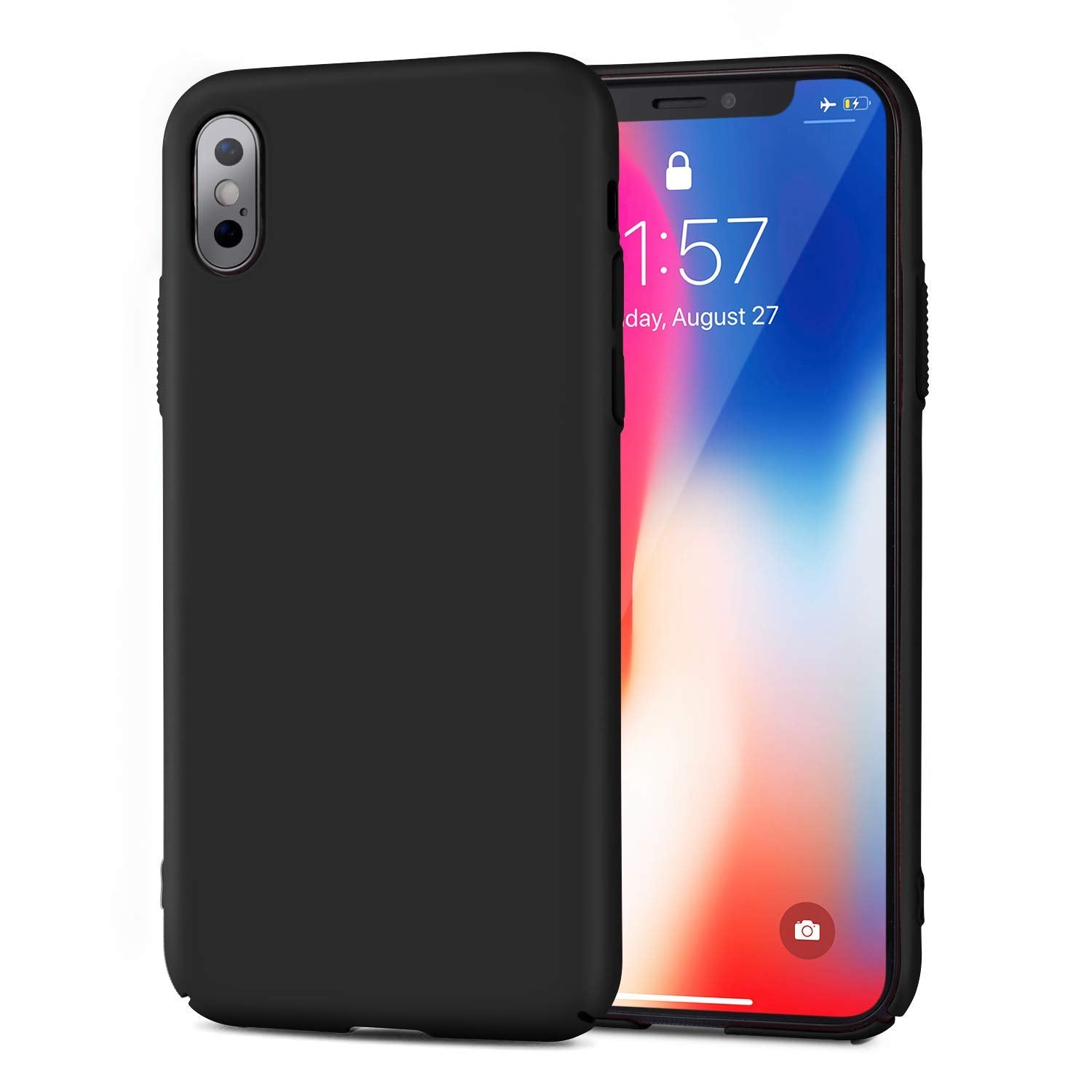 Roopose Phone Case Slim Fit Matte Finish Coating Grip Case Ultra Thin Full Protection Hard PC Anti-Scratch Resistant Phone Cover Shell Compatible with iPhone X
