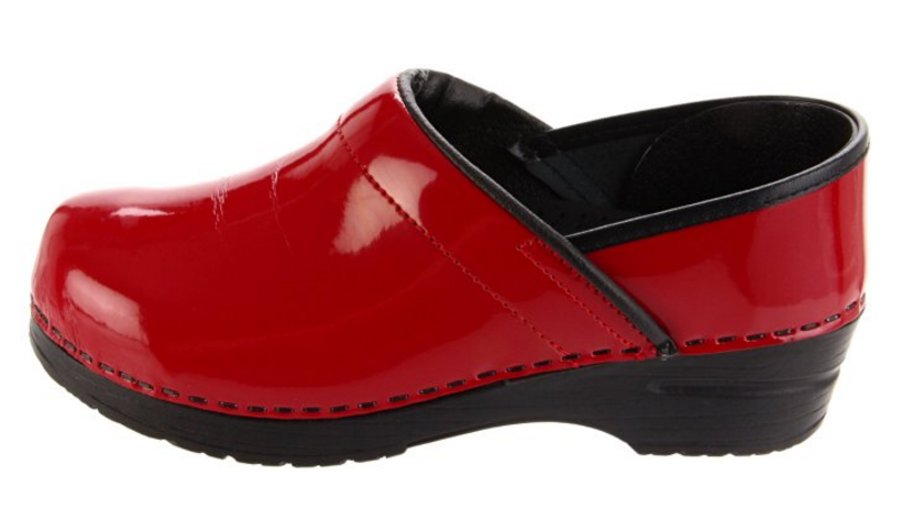 Women's Professional Wide Patent Clog