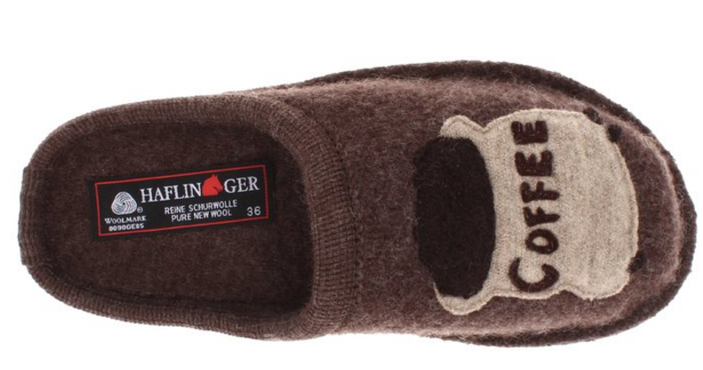 Haflinger Unisex Coffee Slipper