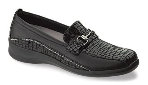 Aetrex Women's E250 Laura Wide Alligator Slip-on