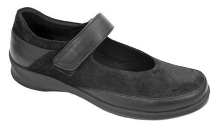 Aetrex Women's E350 Grace Medium Strap Shoe