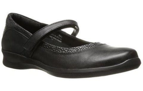 Aetrex Women's E360 Julia Black Mary Jane Wrap Around Medium Casual Shoe