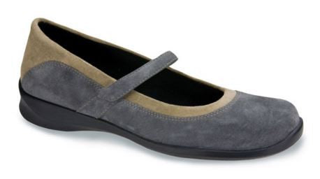 Aetrex Women's E367 Julia Grey Mary Jane Medium Wrap Around Casual Shoe