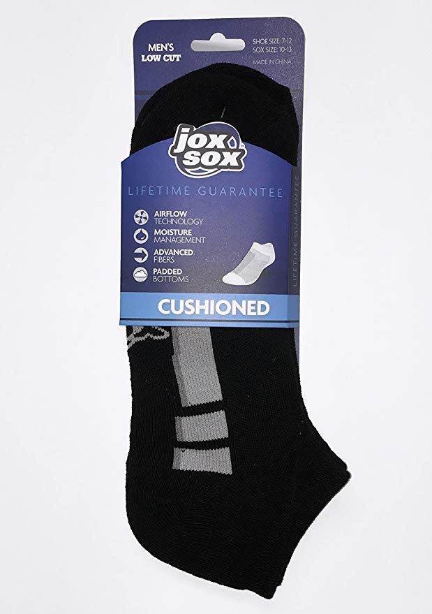 Jox Sox Men's Low Cut Shoe Socks Cushioned