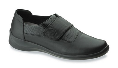 Aetrex Women's E820 Frances Single Strap Wide Flat
