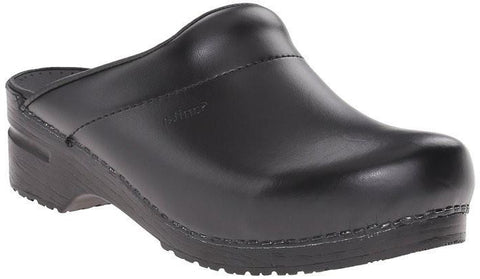 Sanita Men's Karl PU Leather Open Clog