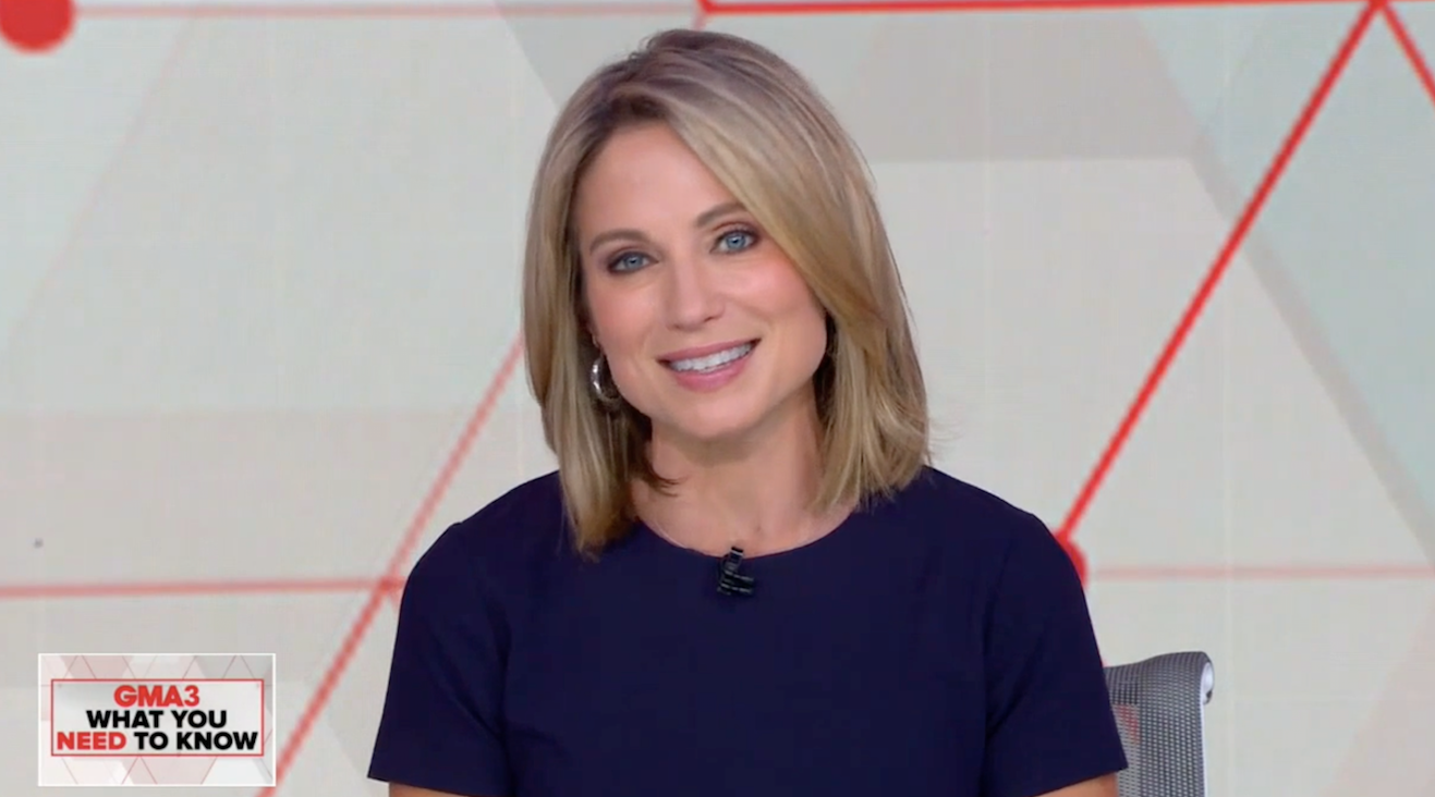 Amy Robach wearing hoops on Good Morning America